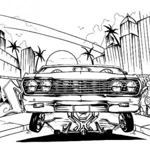 Making Lowrider Cars Coloring Pages