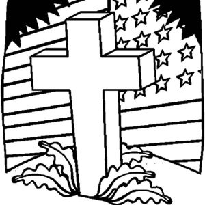 Memorial Flag Day Coloring Pages