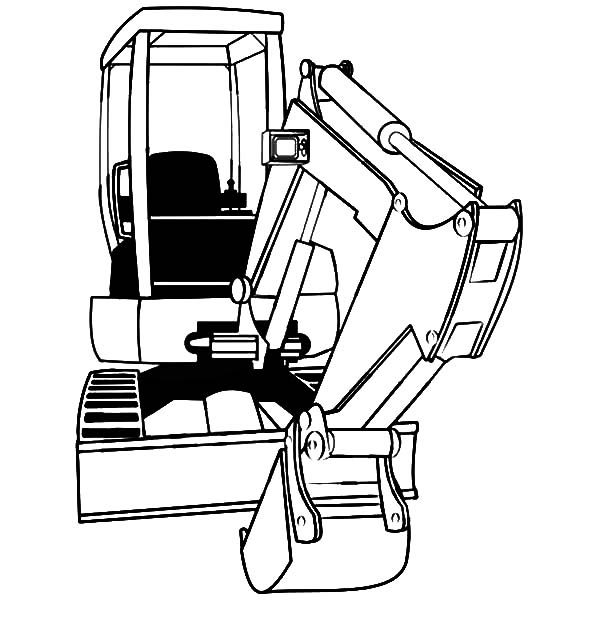 Mini Excavator Coloring Pages - Download & Print Online ...