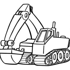 Modern Excavator Coloring Pages