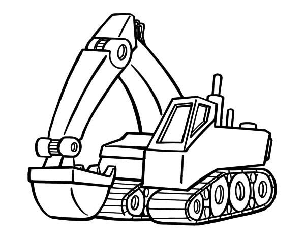 Modern Excavator Coloring Pages Download Print Online Coloring