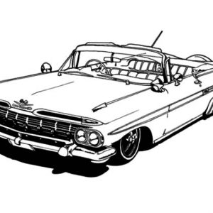 Modified Lowrider Cars Coloring Pages