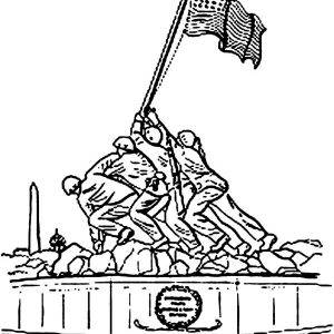 Monument Flag Day Coloring Pages