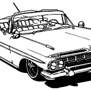 Mustang Lowrider Cars Coloring Pages