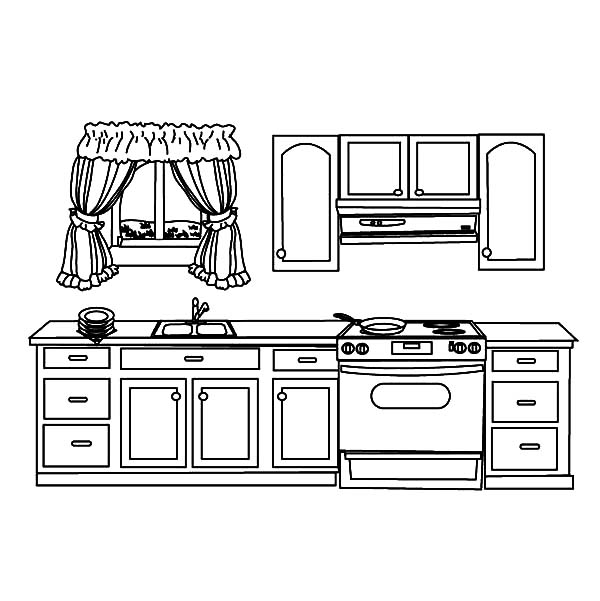 Kitchen Table Coloring Page