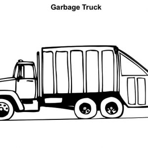 Operating Garbage Truck Coloring Pages