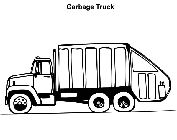 Operating Garbage Truck Coloring Pages - Download & Print ...