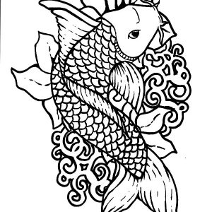 Picture Of Koi Fish Coloring Pages