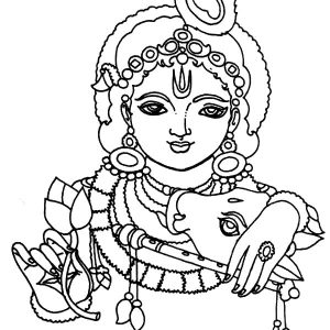 Picture Of Krishna Coloring Pages