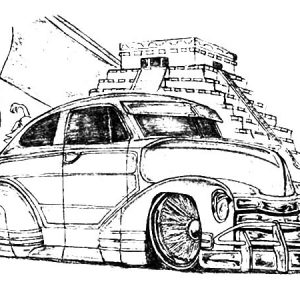 Picture Of Lowrider Cars Coloring Pages