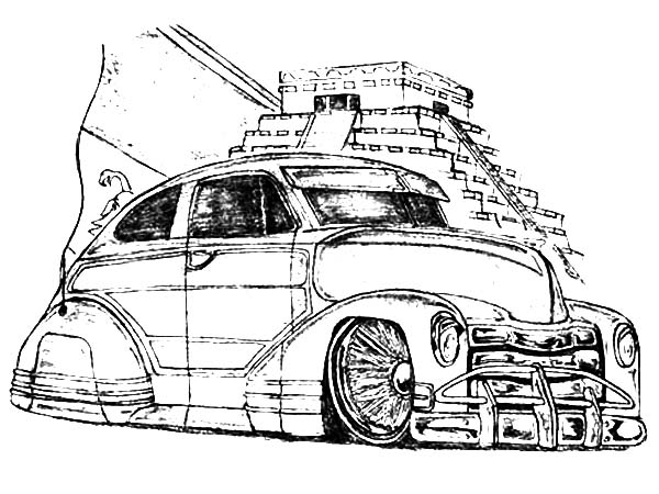 Picture of Lowrider Cars Coloring Pages Download Print