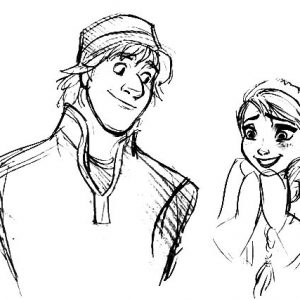 Princess Anna Feeling Grateful She Meet Kristoff Coloring Pages