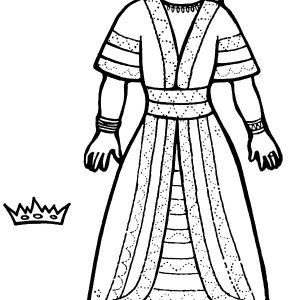 Queen Esther Crown Coloring Pages