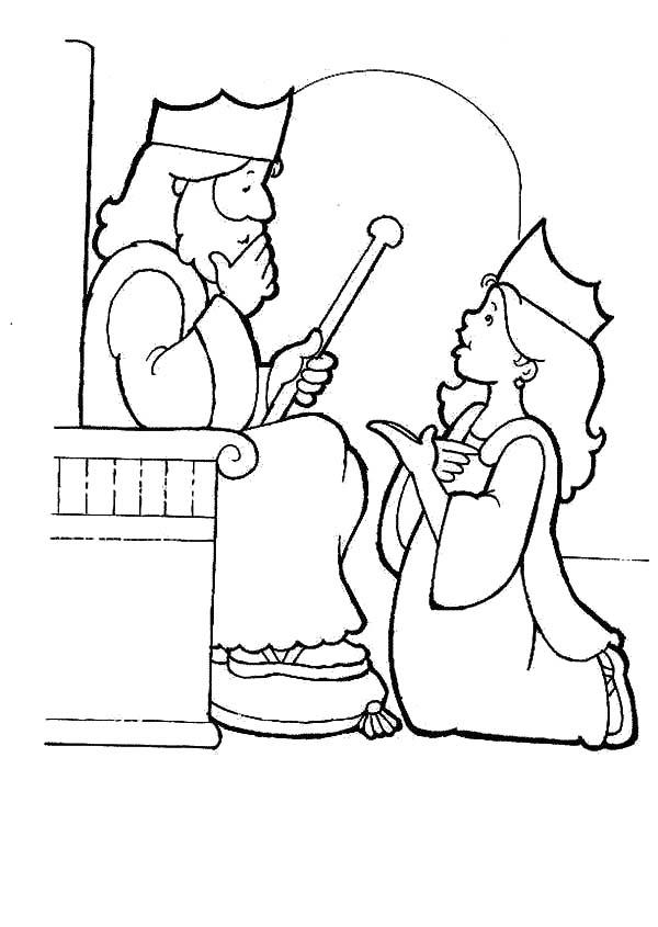 Queen Esther Kneeling Before King