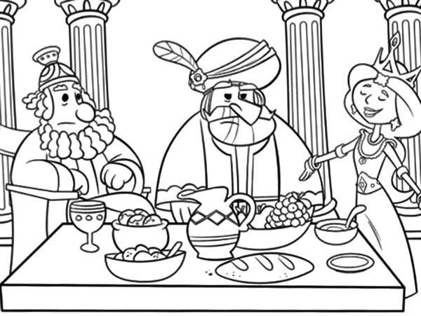 Queen Esther Prepare Dinner Coloring Pages Download Print Online