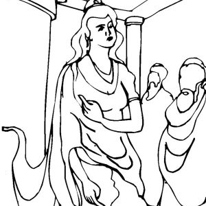 Queen Esther Speech Coloring Pages