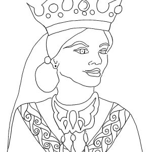 Queen Esther Story In Bible Coloring Pages