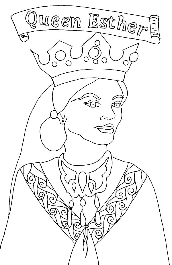 Queen Esther Story In Bible Coloring Pages Download Print