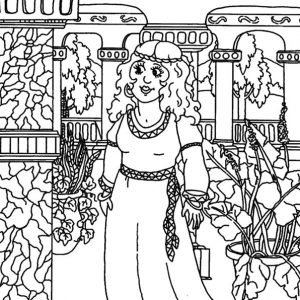 Queen Esther Take A Tour In Palace Coloring Pages