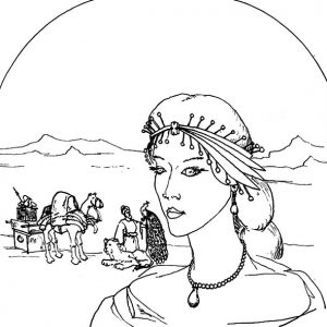 Queen Esther Try To Save Her People From Genoside Coloring Pages