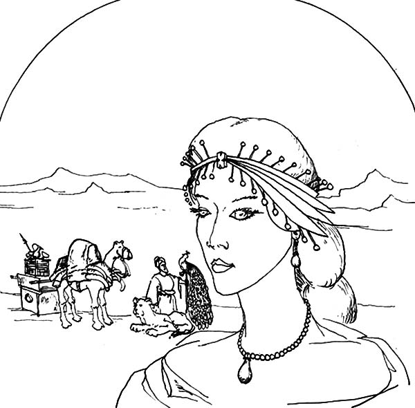 Esther Coloring Page - Coloring Home   590x600