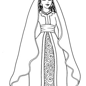 Queen Esther The Of Persia Coloring Pages