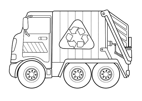 Recycling Garbage Truck Coloring Pages Download Print Online