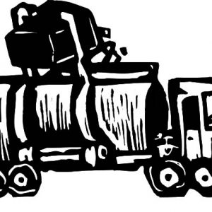 Recycling Pick Up Garbage Truck Coloring Pages