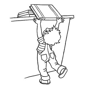 Return Big Book At Library Coloring Pages