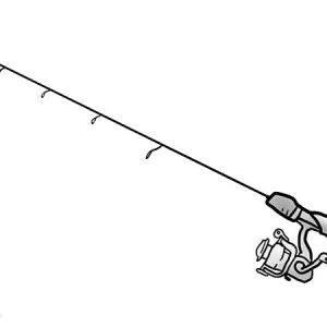 Rig An Ice Fishing Pole Coloring Pages