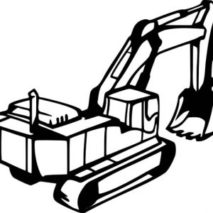 River Dredging Excavator Coloring Pages