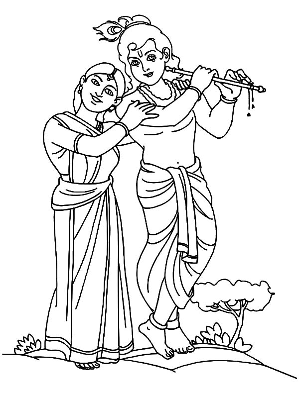 Krishna Coloring Pages Signs Coloring Pages