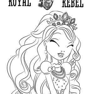 Royal Rebel Ever After High Coloring Pages