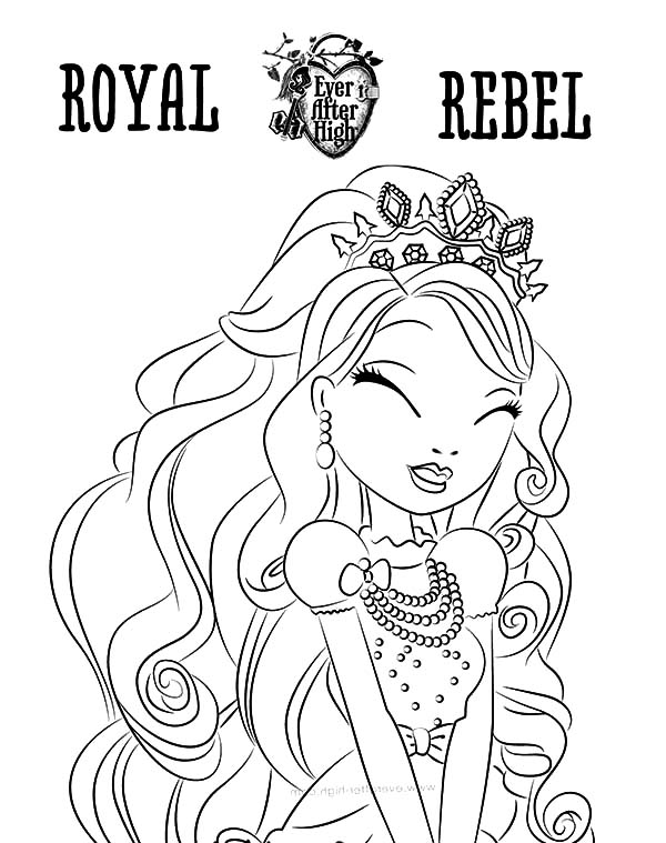 Royal Rebel Ever After High Coloring Pages Download Print Online