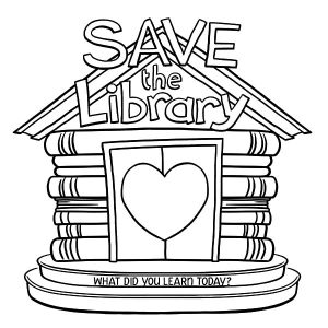 Save The Library Coloring Pages