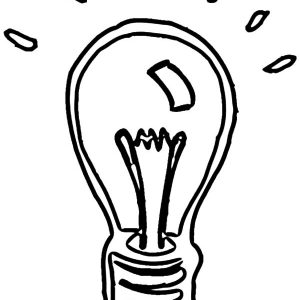 Shining Light Bulb Coloring Pages