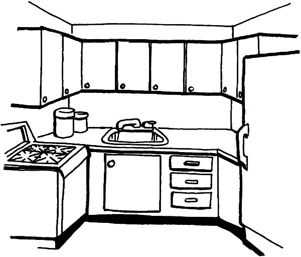 Simple Kitchen Coloring Pages Download Print Online Coloring Pages For Free Color Nimbus