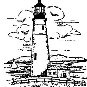 Sketch Of Lighthouse Coloring Pages