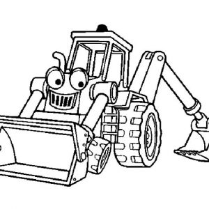 Smiling Excavator Coloring Pages