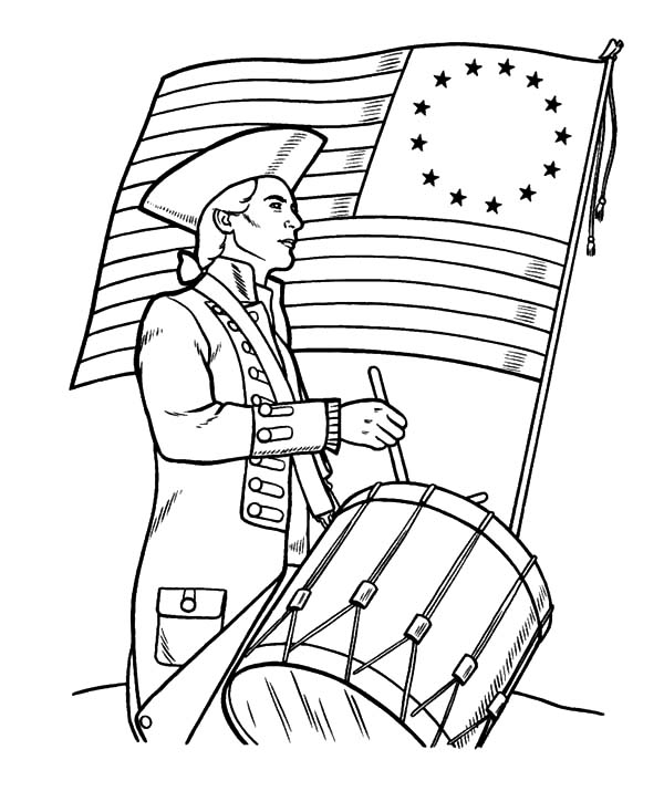 Soldier Beating Drums On Flag Day Coloring Pages Download Print Online Coloring Pages For Free Color Nimbus