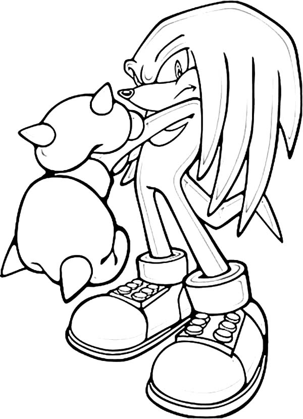 Sonic Knuckles Punch Break Coloring Pages Download Print Online