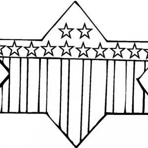 Star Shaped Flag For Flag Day Coloring Pages
