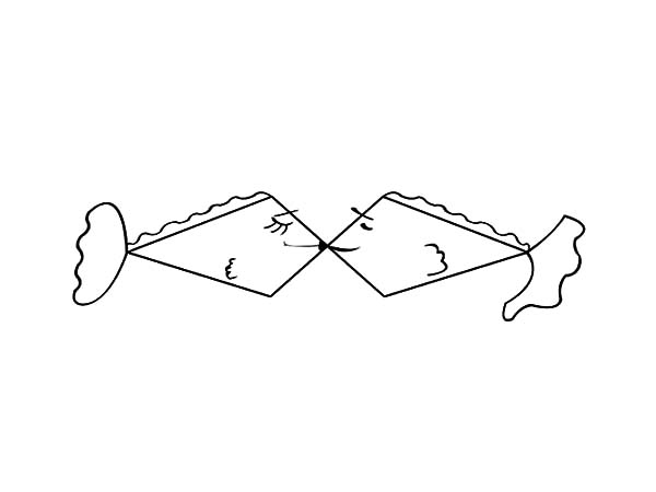 Strange Shaped Kissing Fish Coloring Pages - Download ...