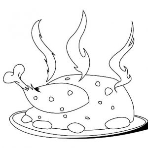 Super Hot Fried Chicken Coloring Pages