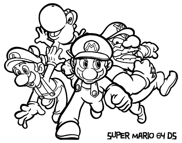 Super Mario And Luigi Coloring Pages Download Print Online Coloring Pages For Free Color Nimbus