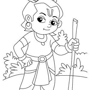 Supreme Personality Of Godhead Krishna Coloring Pages