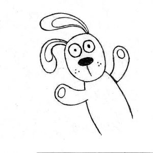 Surprised Knuffle Bunny Coloring Pages