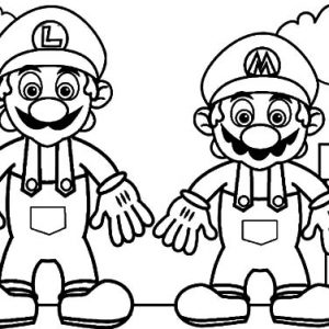 The Adventure Of Mario And Luigi Coloring Pages