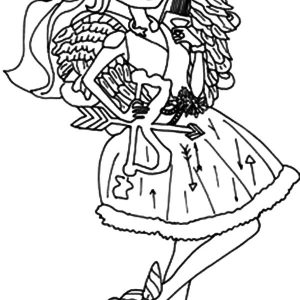 The Famous Cupid Ever In After High Coloring Pages