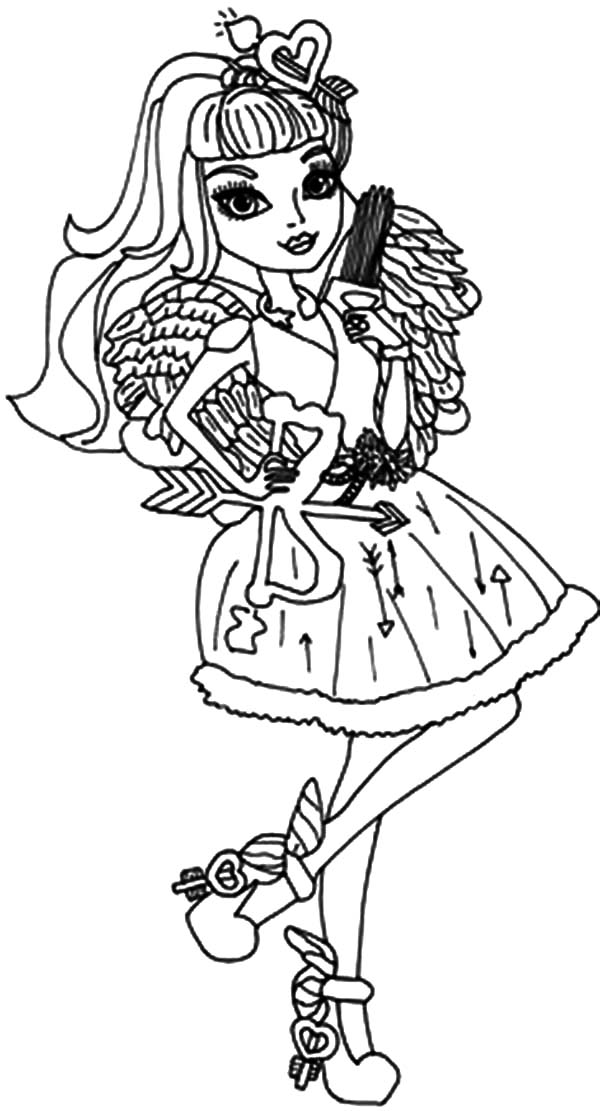 ever after high dragon coloring pages | The Famous Cupid Ever In After High Coloring Pages ...